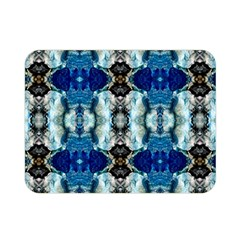 Royal Blue Abstract Pattern Double Sided Flano Blanket (mini)  by Costasonlineshop