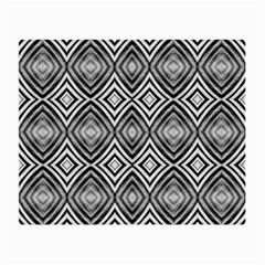 Black White Diamond Pattern Small Glasses Cloth (2 Side) by Costasonlineshop
