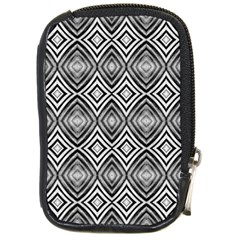 Black White Diamond Pattern Compact Camera Cases by Costasonlineshop