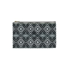 Black White Diamond Pattern Cosmetic Bag (small)  by Costasonlineshop