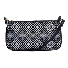 Black White Diamond Pattern Shoulder Clutch Bags by Costasonlineshop