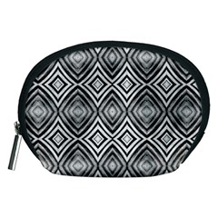 Black White Diamond Pattern Accessory Pouches (medium)  by Costasonlineshop