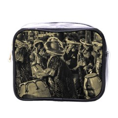 Group Of Candombe Drummers At Carnival Parade Of Uruguay Mini Toiletries Bags by dflcprints
