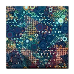 Blue Bubbles Tile Coasters by KirstenStar