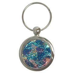 Blue Bubbles Key Chains (round)  by KirstenStar