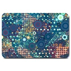 Blue Bubbles Large Doormat  by KirstenStar