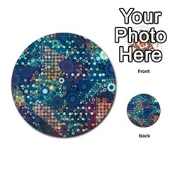Blue Bubbles Multi Purpose Cards (round)  by KirstenStar