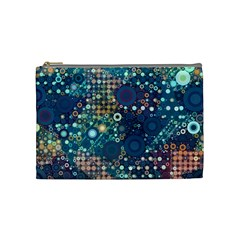 Blue Bubbles Cosmetic Bag (medium)  by KirstenStar