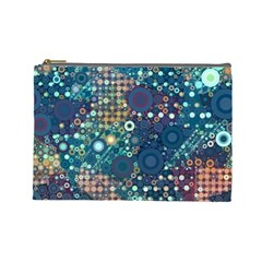 Blue Bubbles Cosmetic Bag (large)  by KirstenStar
