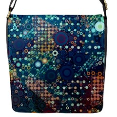 Blue Bubbles Flap Messenger Bag (s) by KirstenStar