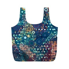 Blue Bubbles Full Print Recycle Bags (m)  by KirstenStar