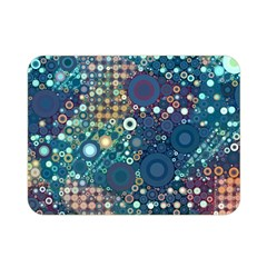 Blue Bubbles Double Sided Flano Blanket (mini)  by KirstenStar