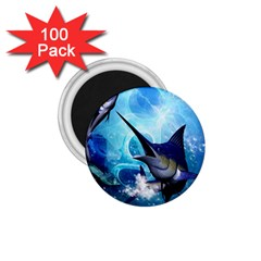 Awersome Marlin In A Fantasy Underwater World 1 75  Magnets (100 Pack)  by FantasyWorld7