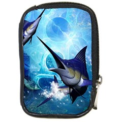 Awersome Marlin In A Fantasy Underwater World Compact Camera Cases by FantasyWorld7