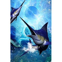 Awersome Marlin In A Fantasy Underwater World 5 5  X 8 5  Notebooks by FantasyWorld7
