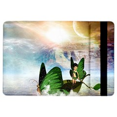 Cute Fairy In A Butterflies Boat In The Night Ipad Air 2 Flip by FantasyWorld7