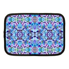 Elegant Turquoise Blue Flower Pattern Netbook Case (medium)  by Costasonlineshop