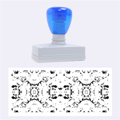 Elegant Turquoise Blue Flower Pattern Rubber Stamps (large) by Costasonlineshop