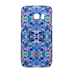 Elegant Turquoise Blue Flower Pattern Galaxy S6 Edge by Costasonlineshop