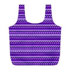 Purple Tribal Pattern Full Print Recycle Bags (l)  by KirstenStar