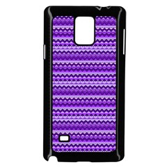 Purple Tribal Pattern Samsung Galaxy Note 4 Case (black) by KirstenStar