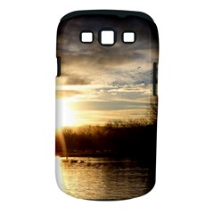 Setting Sun At Lake Samsung Galaxy S Iii Classic Hardshell Case (pc+silicone) by trendistuff