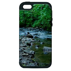 Rocky Stream Apple Iphone 5 Hardshell Case (pc+silicone) by trendistuff