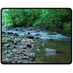 Rocky Stream Double Sided Fleece Blanket (medium)  by trendistuff