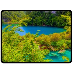 Plitvice, Croatia Fleece Blanket (large)