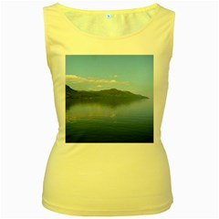 Loch Ness Women s Yellow Tank Tops