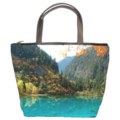 Jiuzhaigou Valley 3 Bucket Bags by trendistuff