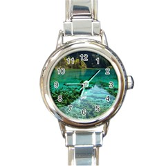 Jiuzhaigou Valley 2 Round Italian Charm Watches by trendistuff