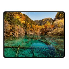 Jiuzhaigou Valley 1 Fleece Blanket (small) by trendistuff