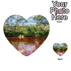 Cano Cristales 3 Multi Purpose Cards (heart)  by trendistuff