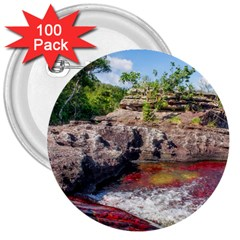 Cano Cristales 2 3  Buttons (100 Pack)  by trendistuff