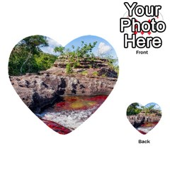 Cano Cristales 2 Multi Purpose Cards (heart)  by trendistuff