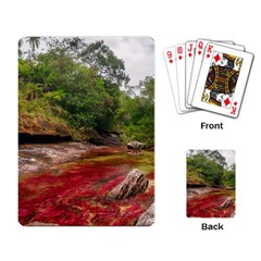 Cano Cristales 1 Playing Card by trendistuff