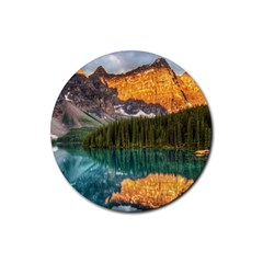 Banff National Park 4 Rubber Round Coaster (4 Pack)  by trendistuff