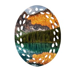 Banff National Park 4 Oval Filigree Ornament (2 Side)  by trendistuff