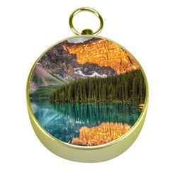 Banff National Park 4 Gold Compasses by trendistuff