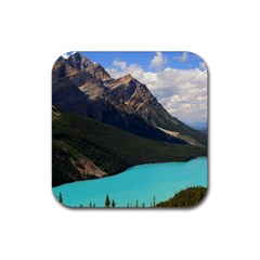 Banff National Park 3 Rubber Coaster (square)  by trendistuff