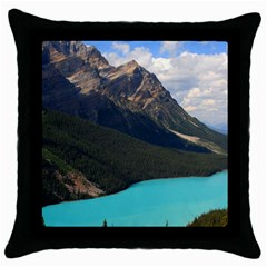 Banff National Park 3 Throw Pillow Cases (black) by trendistuff