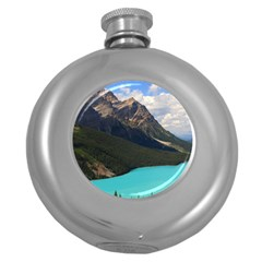 Banff National Park 3 Round Hip Flask (5 Oz) by trendistuff