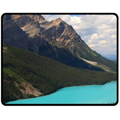 Banff National Park 3 Fleece Blanket (medium)  by trendistuff
