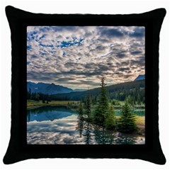 Banff National Park 2 Throw Pillow Cases (black) by trendistuff