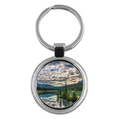 Banff National Park 2 Key Chains (round)  by trendistuff