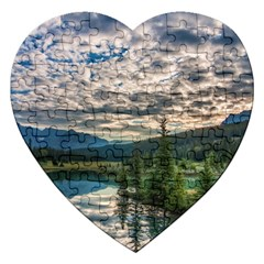 Banff National Park 2 Jigsaw Puzzle (heart) by trendistuff