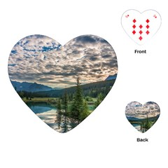 Banff National Park 2 Playing Cards (heart)  by trendistuff