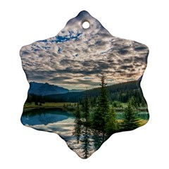 Banff National Park 2 Ornament (snowflake)  by trendistuff