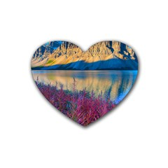 Banff National Park 1 Heart Coaster (4 Pack)  by trendistuff